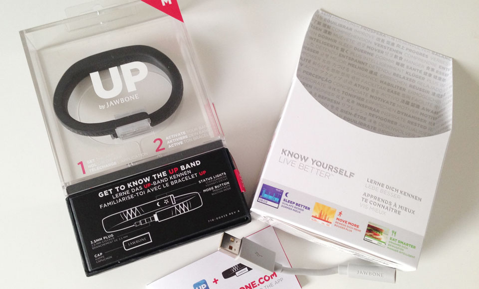Jawbone pakker altid deres produkter godt ind - og dette gør sig også gældende med UP.