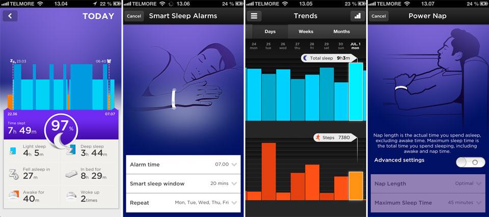 Armbåndet måler temmelig præcis din nattesøvn.
